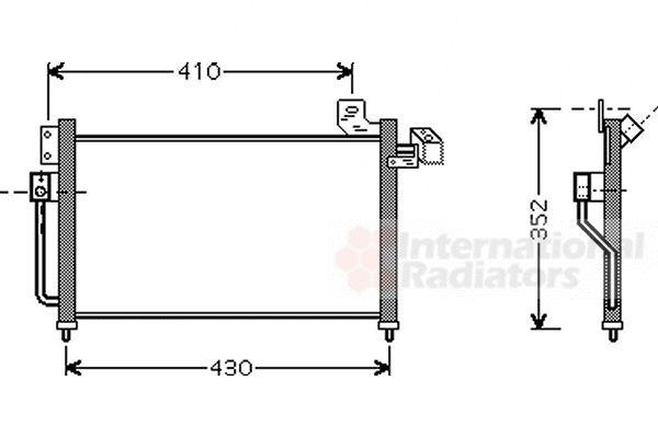 Condenseur, climatisation - VAN WEZEL - 27005155
