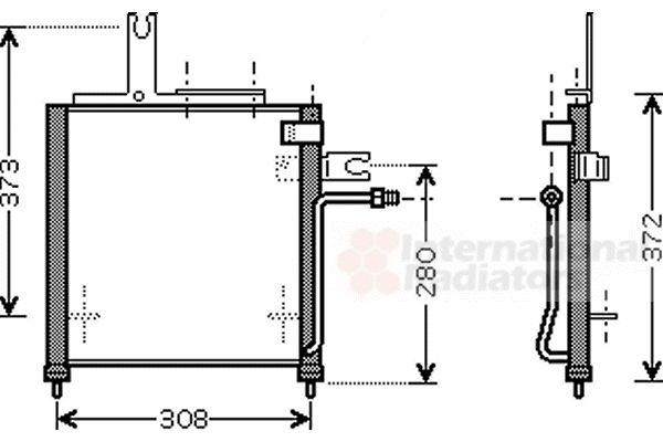 Condenseur, climatisation - VAN WEZEL - 27005156