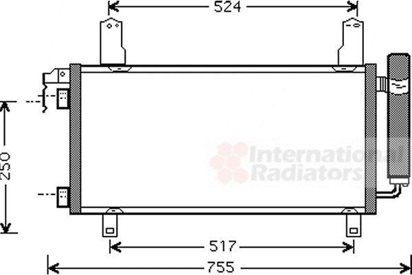 Condenseur, climatisation - VAN WEZEL - 27005157