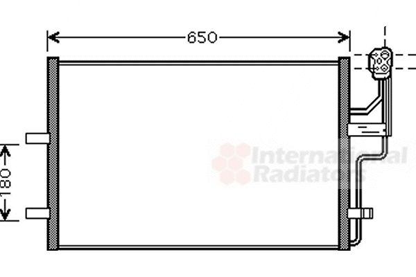 Condenseur, climatisation - VAN WEZEL - 27005186