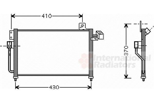 Condenseur, climatisation - VAN WEZEL - 27005195