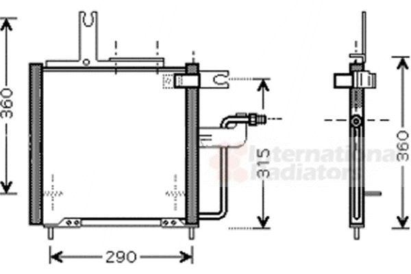 Condenseur, climatisation - VAN WEZEL - 27005197