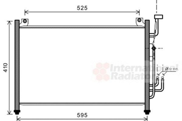 Condenseur, climatisation - VAN WEZEL - 27005236