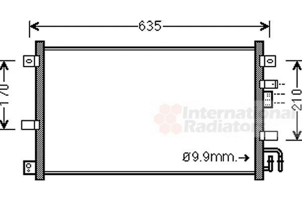 Condenseur, climatisation - VAN WEZEL - 27005238