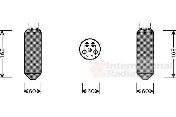 Filtre déshydratant, climatisation - VAN WEZEL - 2700D036