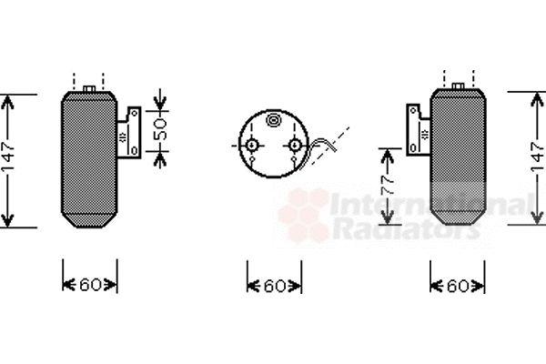 Filtre déshydratant, climatisation - VAN WEZEL - 2700D084