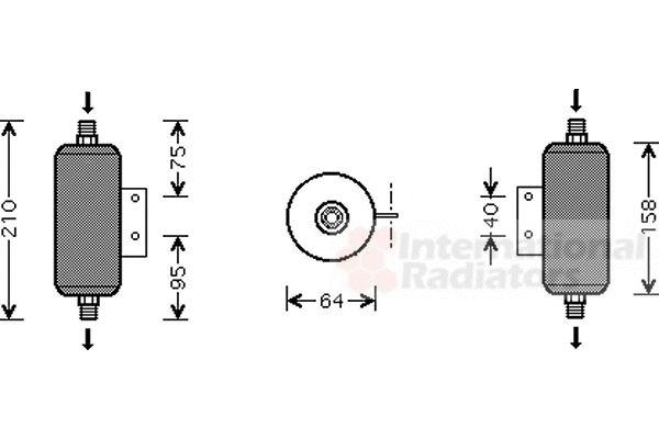 Filtre déshydratant, climatisation - VAN WEZEL - 2700D149
