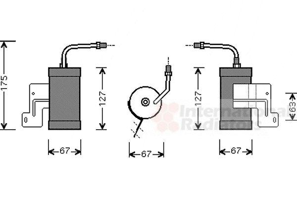 Filtre déshydratant, climatisation - VAN WEZEL - 2700D165