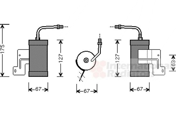 Filtre déshydratant, climatisation - VWA - 88VWA2700D165