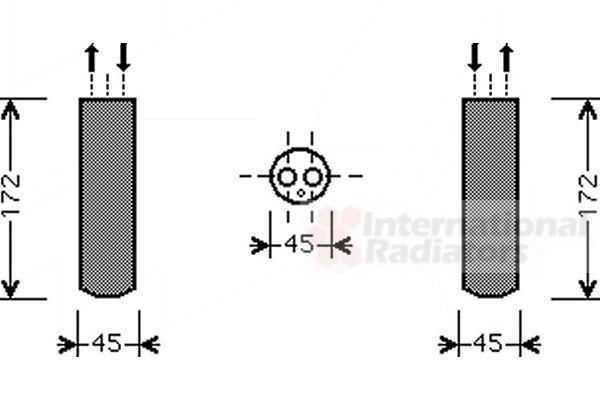 Filtre déshydratant, climatisation - VWA - 88VWA2700D185
