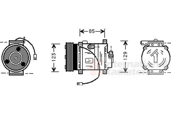 Compresseur, climatisation - VAN WEZEL - 2700K132