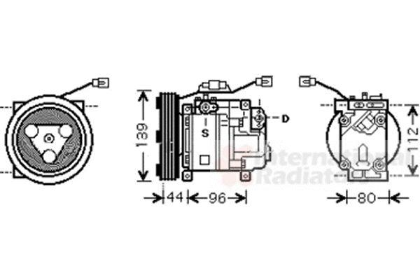 Compresseur, climatisation - VAN WEZEL - 2700K198