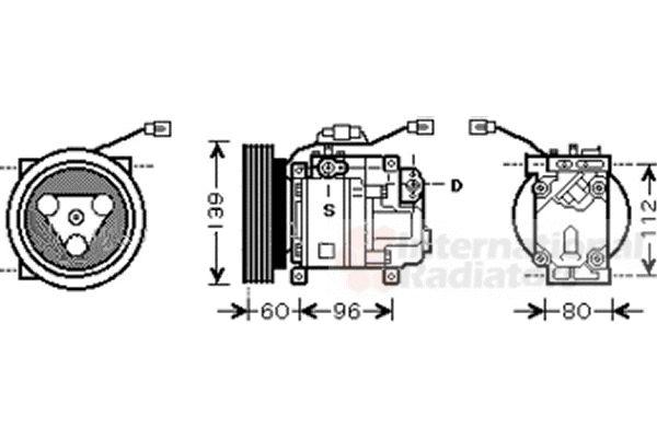Compresseur, climatisation - VAN WEZEL - 2700K199