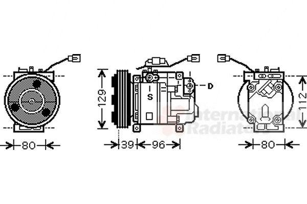 Compresseur, climatisation - VAN WEZEL - 2700K200