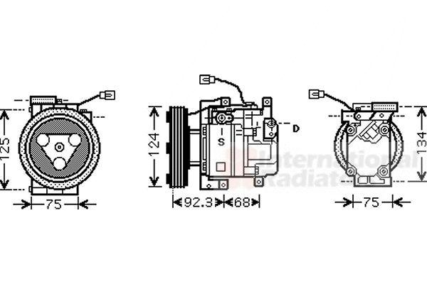 Compresseur, climatisation - VAN WEZEL - 2700K219