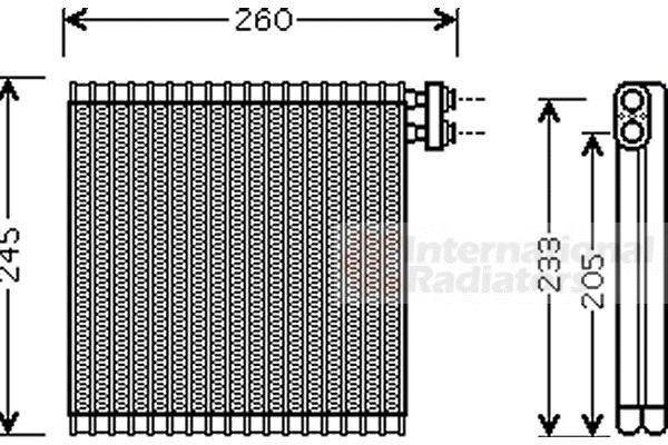 Evaporateur climatisation - VAN WEZEL - 2700V216