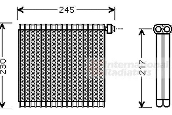 Evaporateur climatisation - VWA - 88VWA2700V217