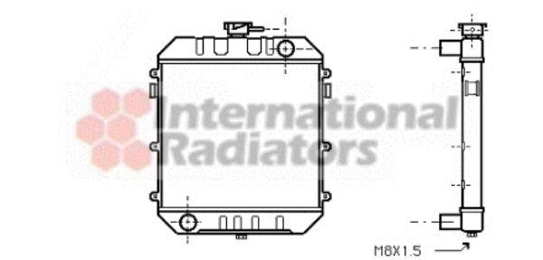 Radiateur, refroidissement du moteur - VAN WEZEL - 37002018