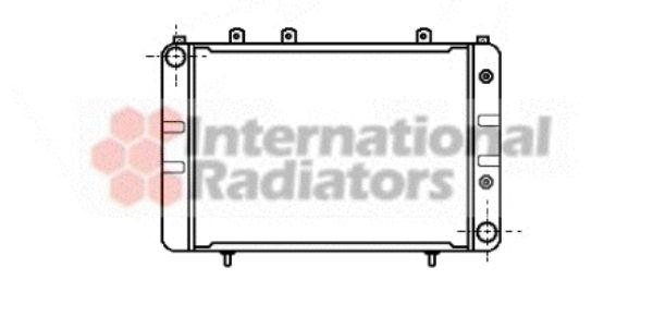 Radiateur, refroidissement du moteur - VAN WEZEL - 37002020