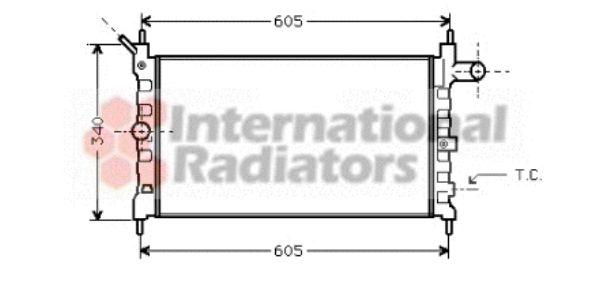 Radiateur, refroidissement du moteur - VAN WEZEL - 37002022