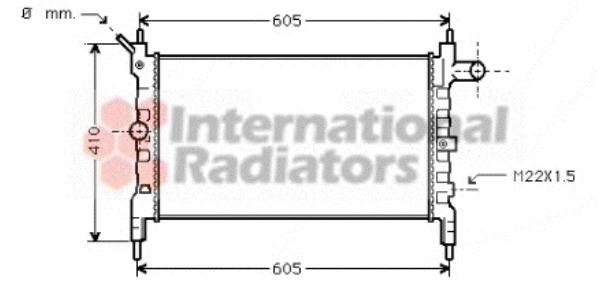 Radiateur, refroidissement du moteur - VAN WEZEL - 37002023