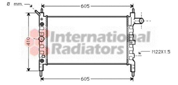 Radiateur, refroidissement du moteur - VAN WEZEL - 37002026