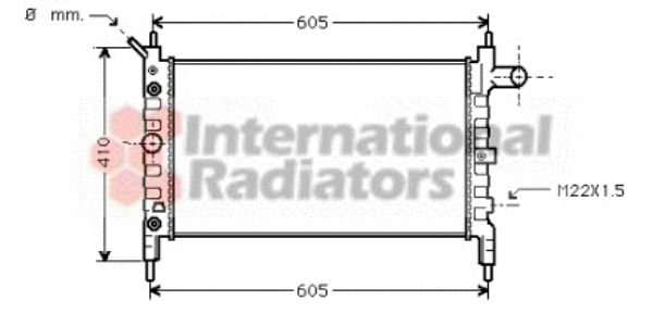 Radiateur, refroidissement du moteur - VWA - 88VWA37002026