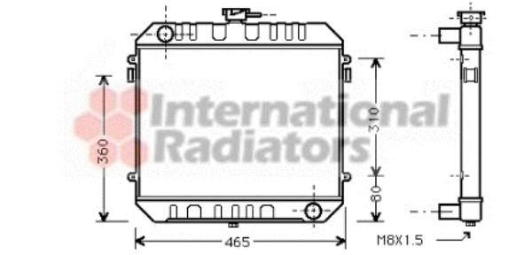 Radiateur, refroidissement du moteur - VAN WEZEL - 37002027