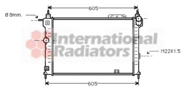 Radiateur, refroidissement du moteur - VAN WEZEL - 37002028