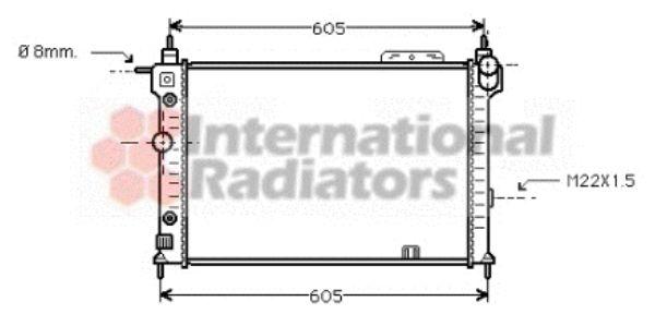 Radiateur, refroidissement du moteur - VAN WEZEL - 37002029