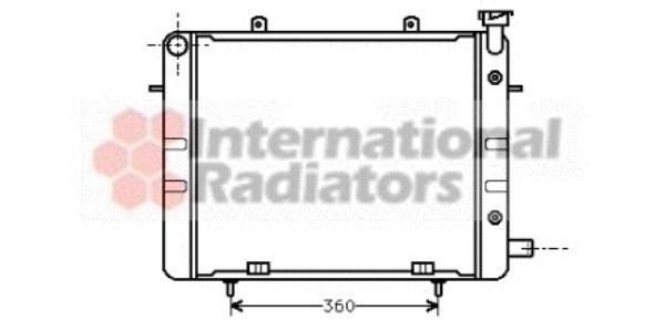 Radiateur, refroidissement du moteur - VAN WEZEL - 37002040