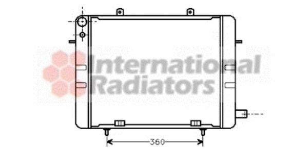 Radiateur, refroidissement du moteur - VAN WEZEL - 37002044