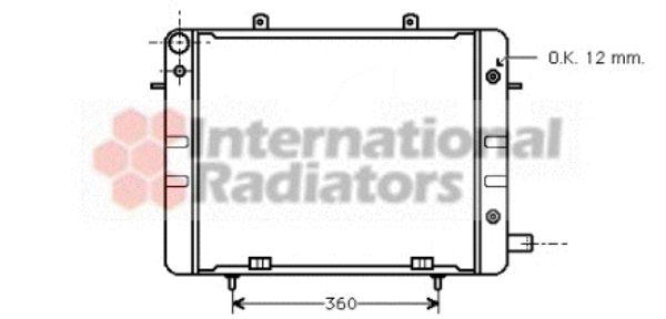 Radiateur, refroidissement du moteur - VAN WEZEL - 37002045