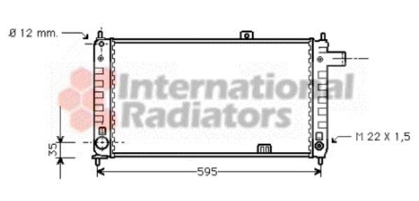 Radiateur, refroidissement du moteur - VAN WEZEL - 37002048
