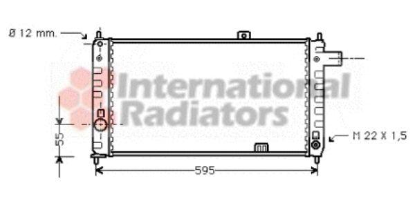 Radiateur, refroidissement du moteur - VAN WEZEL - 37002050