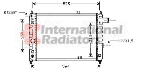 Radiateur, refroidissement du moteur - VAN WEZEL - 37002051