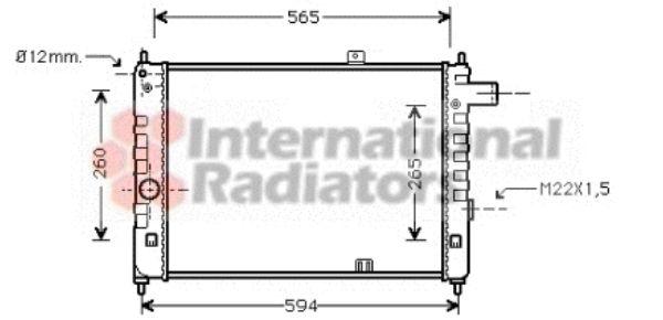 Radiateur, refroidissement du moteur - VAN WEZEL - 37002052