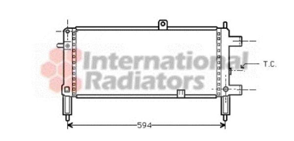 Radiateur, refroidissement du moteur - VAN WEZEL - 37002053