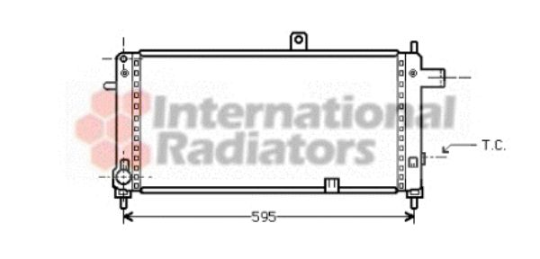 Radiateur, refroidissement du moteur - VAN WEZEL - 37002054