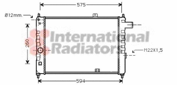 Radiateur, refroidissement du moteur - VAN WEZEL - 37002055