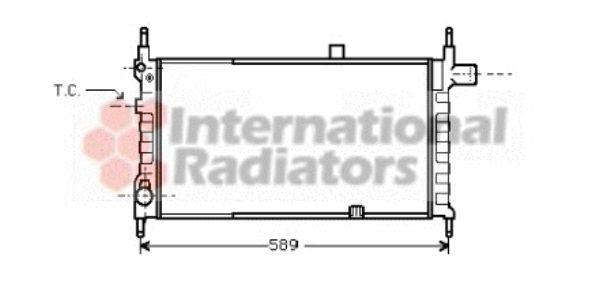 Radiateur, refroidissement du moteur - VAN WEZEL - 37002063