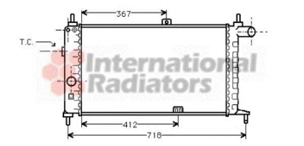 Radiateur, refroidissement du moteur - VAN WEZEL - 37002064
