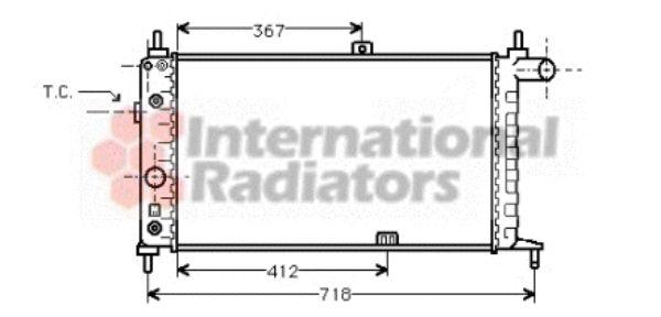 Radiateur, refroidissement du moteur - VAN WEZEL - 37002065