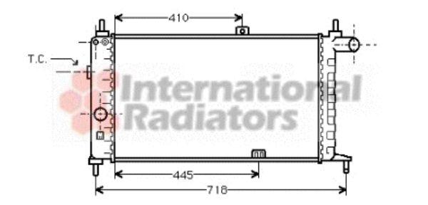 Radiateur, refroidissement du moteur - VAN WEZEL - 37002066