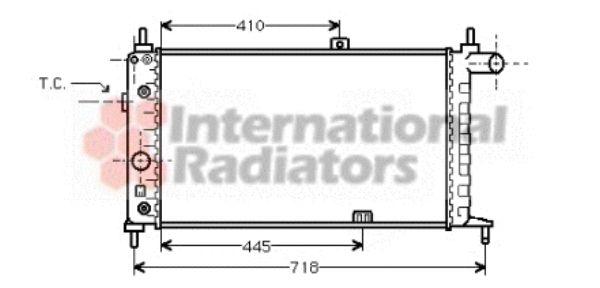 Radiateur, refroidissement du moteur - VAN WEZEL - 37002067