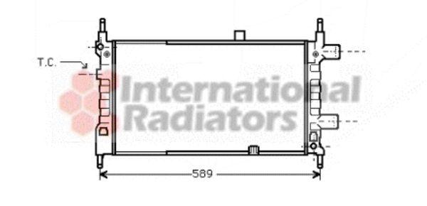 Radiateur, refroidissement du moteur - VAN WEZEL - 37002068
