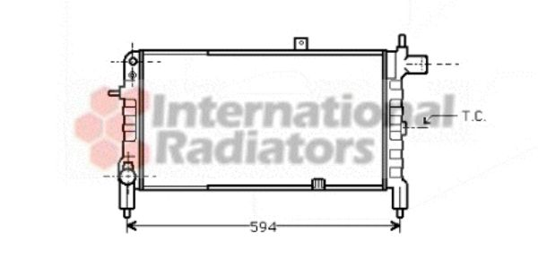 Radiateur, refroidissement du moteur - VAN WEZEL - 37002074