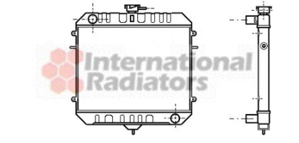 Radiateur, refroidissement du moteur - VAN WEZEL - 37002081