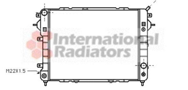 Radiateur, refroidissement du moteur - VAN WEZEL - 37002089