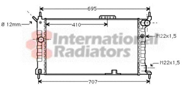 Radiateur, refroidissement du moteur - VAN WEZEL - 37002091